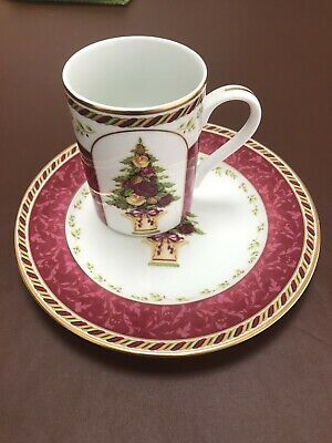 Royal Albert Seasons Of Colour Red Cranberry Tree Toprary & Salad Plate • 11£
