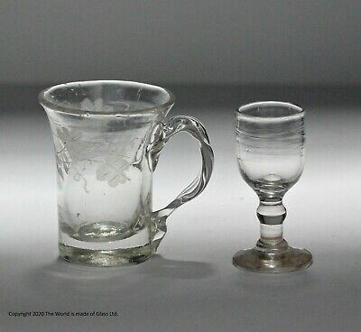 Two Minature Early 19th Century Glasses • 45£