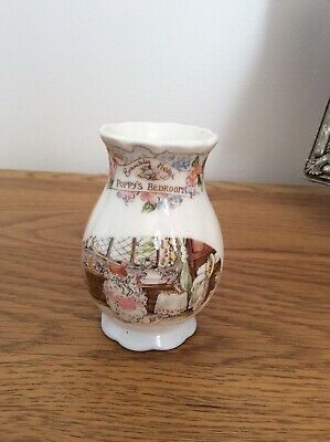 Collectable Fine Art Royal Doulton Brambly Hedge Poppys Bedroom Small Vase 1991 • 30£
