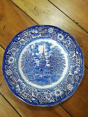 Staffordshire Ironstone  Liberty Blue - Independence Hall  - Dinner Plate 9.75  • 5£