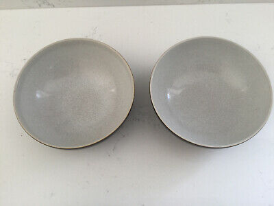 2 X Denby Everyday Black Pepper Cereal Soup Desert Bowl Pair • 19.95£
