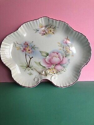 **pretty Vintage James Kent Old Foley Decorative Shaped Plate Made In England** • 5.99£