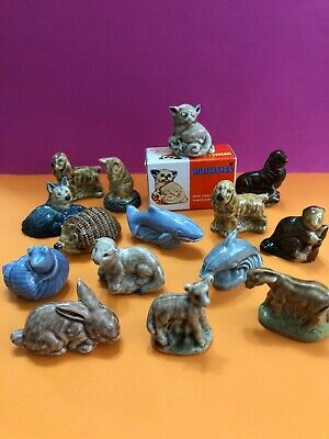**15 X Assorted Vintage Wade Miniature Animals Whimsies Inc Dogs Sea Life Etc** • 16.99£