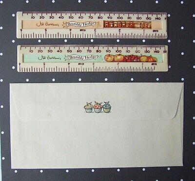 Brambly Hedge Vintage 2 Rulers & 1 Envelope -  Unusual Rare Items • 3.50£