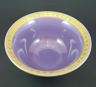 Cambridge Glass Helio Large Console Bowl - Etched And Gold Encrusted • 95.53£