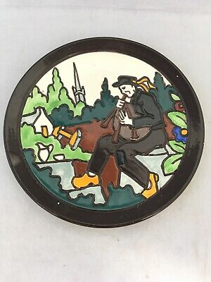 Vintage HB Quimper France D1068 Pottery Wall Hanging Plate • 29.99£