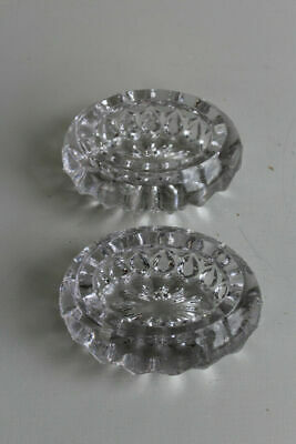 Pair Chunky Glass Dishes • 16£