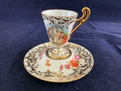 Fine Antique Dresden Royal Coburg Porcelain Hand Painted Cup And Saucer. #1. • 23£