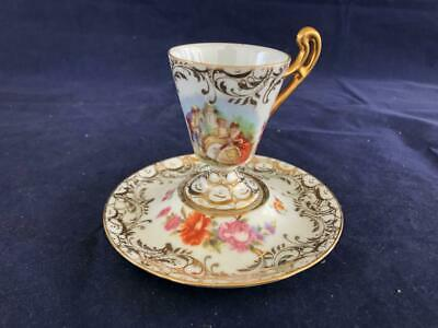 Fine Antique Dresden Royal Coburg Porcelain Hand Painted Cup And Saucer. #2. • 23£