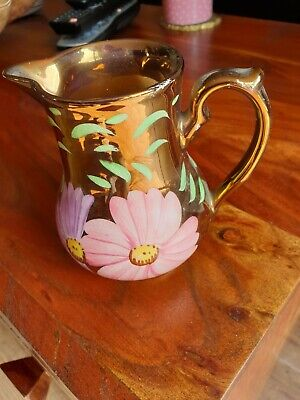 Vintage Wade Small Size  Jug With Lustre Decoration, Hand Painted 5 Inch Tall • 2.70£