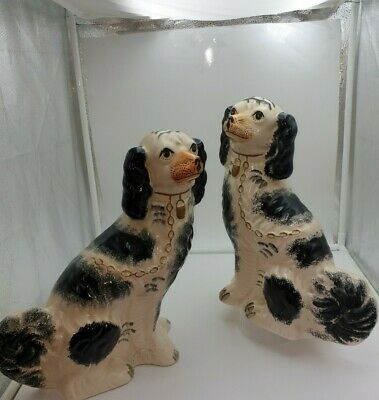 Vintage Pair Of  England Staffordshire Dogs 12 Inch Tall  • 50£