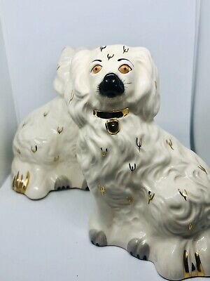 Royal Doulton - Vintage Pair Of Royal Doulton Wally Dogs, Mantle Dogs • 50£