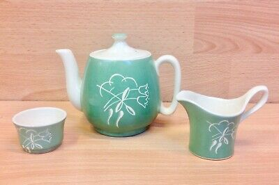 Grays Pottery  Stylised Flowers  Pattern A7852 Tea For One 1939-45. • 39.95£