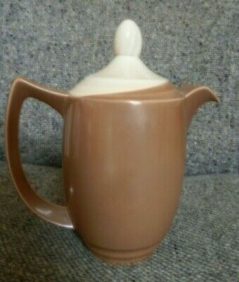 Branksome China Art Deco Hot Water  Pot  Two Tone Brown & Mushroom 20 Cm • 18£