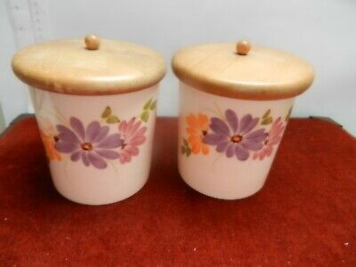 Babbacombe Pottery 2 Storage Cannisters • 18£