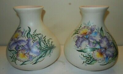Axe Vale Pottery Devon 2 Large Vases  6.5  Pink Interiors • 44£