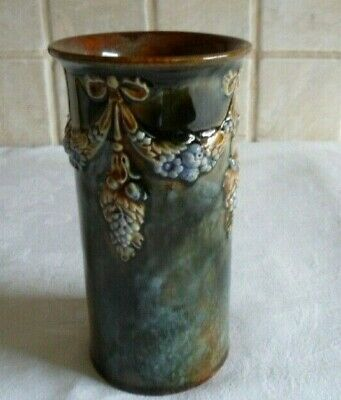 ROYAL DOULTON VASE SIGNED LP FOR LILY PARTINGTON MADE IN ENGLAND -  EARLY 1920s • 70£