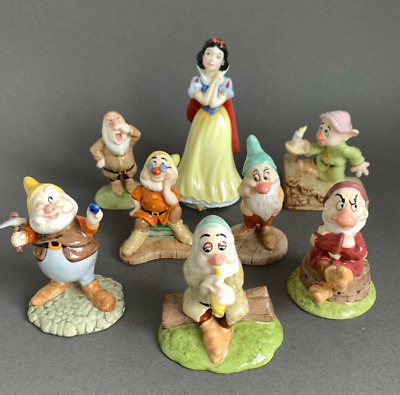 Royal Doulton Snow White And The Seven Dwarfs Figurines BOXED • 149£