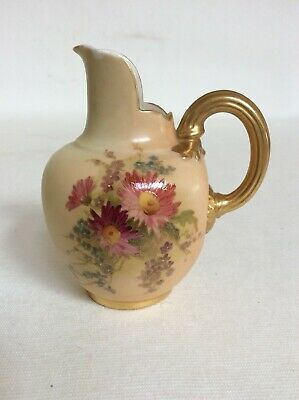 Small Royal Worcester Blush Ivory Flatback Jug From 1909. • 35£