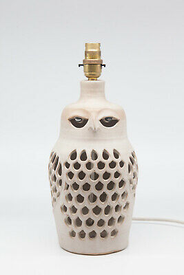 Vintage Pottery Lamp In The Form Of Owl By Cairncraft Pottery Of Basingstoke • 34.99£