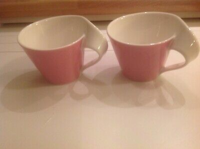 Villeroy&Boch New Wave Coffee Cups / Tea Cups  (2) Pink • 16.99£