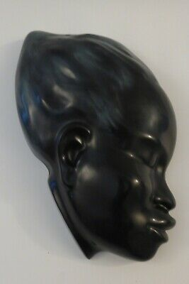 Vintage 1950s Cortendorf Ceramic African Woman Wall Mask, Impressed No. 5103 • 29.99£