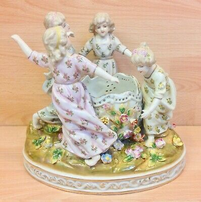 Continental Meissen Style  Four Seasons  Figure Group.  • 95£