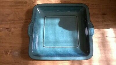 Rare Denby Greenwich Green Shallow Square Serving Tray Platter • 20£