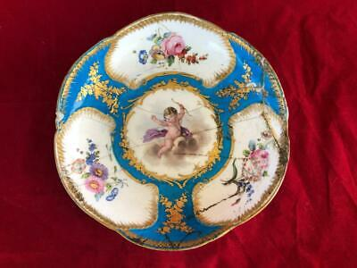 Antique French Sevres Porcelain Hand Painted Winged Cherub Bowl. #1 A/f • 9.99£