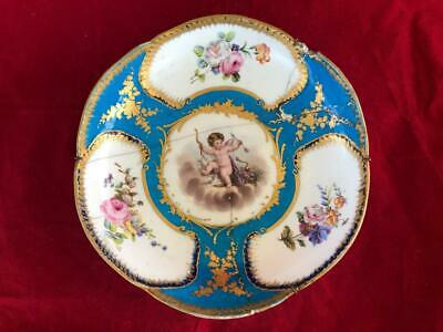 Antique French Sevres Porcelain Hand Painted Winged Cherub Bowl. #2 A/f • 10.49£