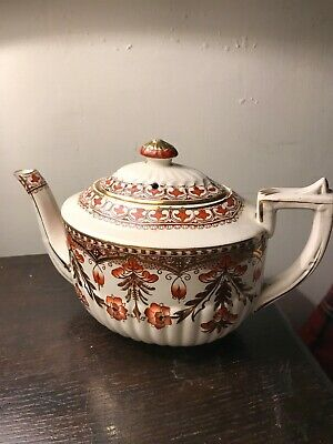 Antique Decorated Pottery Teapot - Early! • 15£