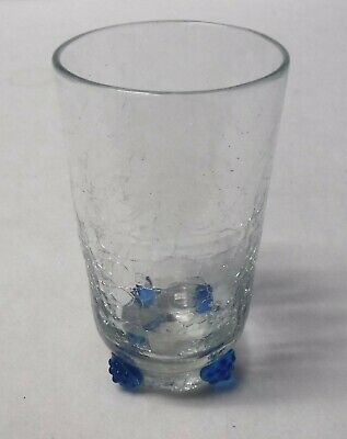BLANKO Company CRACKLED BOWL BLUE ROSETTES Pattern 14-ounce Tumbler -5-5/8  • 8.65£