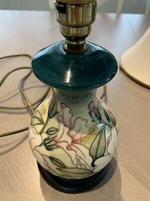 Unwanted Rare Moorcroft Pretty Table Lamp And Shade   • 120£