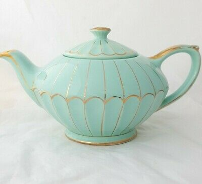 Beautiful Vintage Duck Egg/Turquoise Full Size Sadler Teapot - Lovely Condition • 42£