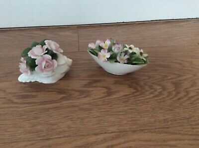 Two Bone China Flower Display Ornaments Aynsley And Royal Doulton • 4£