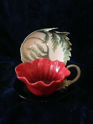 Franz Porcelain Poppy Cup And Saucer • 29£