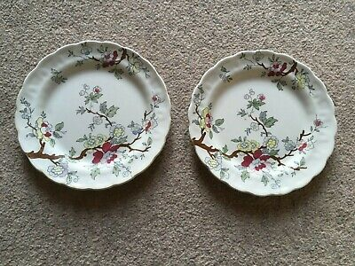 2 Vintage Booths  Chinese Tree  Pattern  Side Sandwich Dessert Plate No A 8001 • 10£