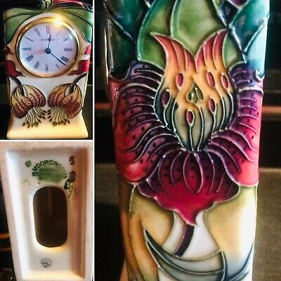 "Nicola Slaney For Moorcroft Anna Lily 6"" Mantle Clock • 28£"