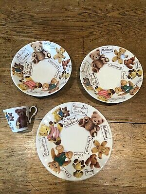 Roy Kirkham My Favourite Teddies Tea Fine Bone China Cup Plate & Cereal Dishes • 25£