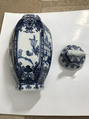 Chinese Pottery Jar: Reproduction From Ming Village Singapore Signed By Artist • 35£