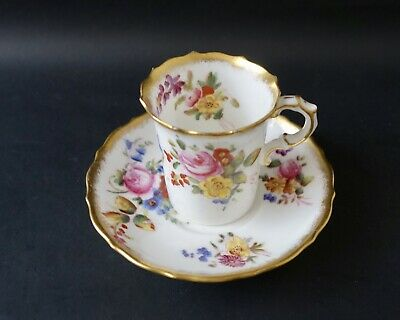 Hammersley Dresden Spray Coffee Cup And Saucer • 8£
