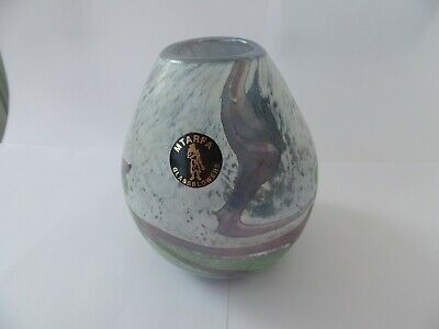 Art Glass MTARFA Vase Signed And Label • 4.99£