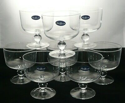 Luigi Bormioli Italy Individual Trifle Bowls Set Of 8 Dessert Dishes Labled • 31.39£