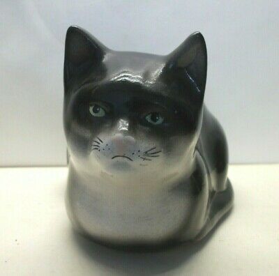 Babbacombe Sitting  Cat - Black And White  -  6.75 Inches Long • 16£