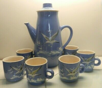 Babbacombe Pottery Coffee Set Seagull Design 26 Cm • 39£