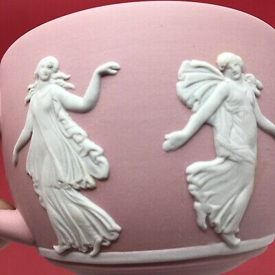 Wedgwood Pink Japer Ware Dancing Hours Teacup (No Saucer Matt Interior) • 19.99£