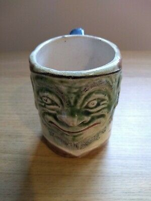 Blanche Vulliamy Oom Paul Kruger Grotesque South African Political Mug C1900 • 350£
