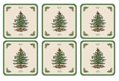 Pimpernel For Spode Christmas Tree Coasters Set Of 6 • 6.95£