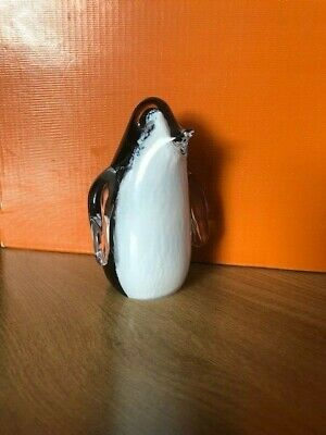 COLLECTABLE VINTAGE WEDGEWOOD GLASS PENGUIN -  Paperweight / Ornament • 12£
