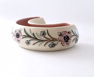 Pretty Posy Trough Satin Glazed Nicely Hand Painted From Axe Vale Pottery Devon  • 11£